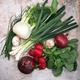 Group of fresh vegetables and herbs - PhotoDune Item for Sale