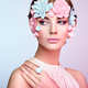 Face of beautiful woman decorated with flowers - PhotoDune Item for Sale