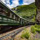 Flam Line is a long railway tourism line between Myrdal and Flam in Aurland, Norway. - PhotoDune Item for Sale