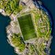 Football field stadium in Henningsvaer from above. - PhotoDune Item for Sale