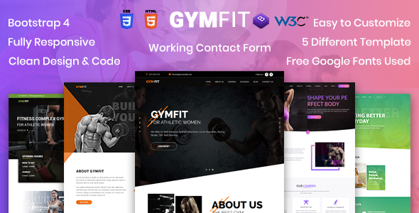 GYM FIT- Gym & Fitness HTML5 Responsive Template by netizenstech