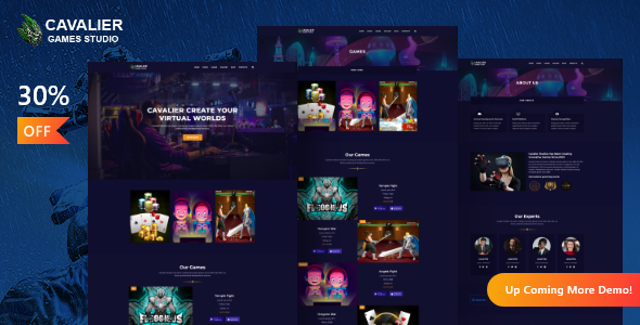 Download Cavalier – Gaming Studio WordPress Theme + RTL Free Nulled