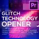 Technology Glitch Opener for Premiere Pro