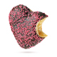 Bitten heart shape chocolate donut with red sprinkles isolated - PhotoDune Item for Sale