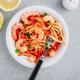 Italian food shrimp spaghetti pasta with tomato sauce - PhotoDune Item for Sale