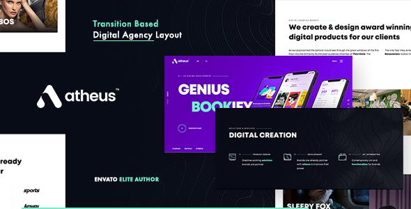 Wondrous Atheus - Modern Creative Agency WordPress Theme