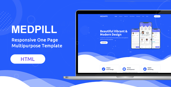 Medpill | Responsive One Page Multipurpose Template