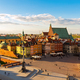 Aerial View of the Old City in Warsaw - PhotoDune Item for Sale