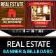 Real Estate Outdoor Banner & Billboard Signage PSD