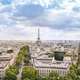 View of Paris city with cloudy sky, France - PhotoDune Item for Sale