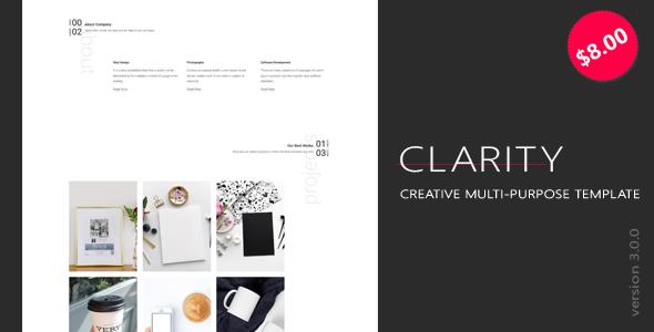 Clarity – Minimal & Creative Bootstrap 4 HTML Template