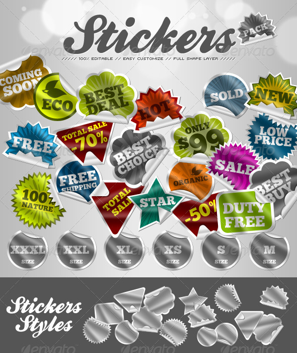 Stickers - Badges & Stickers Web Elements