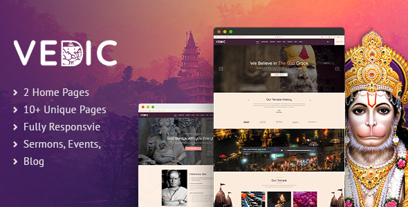 Vedic | Hindu Temple HTML5 Template
