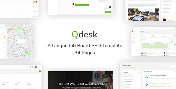 Qdesk - A Unique Job Board HTML 5 Template