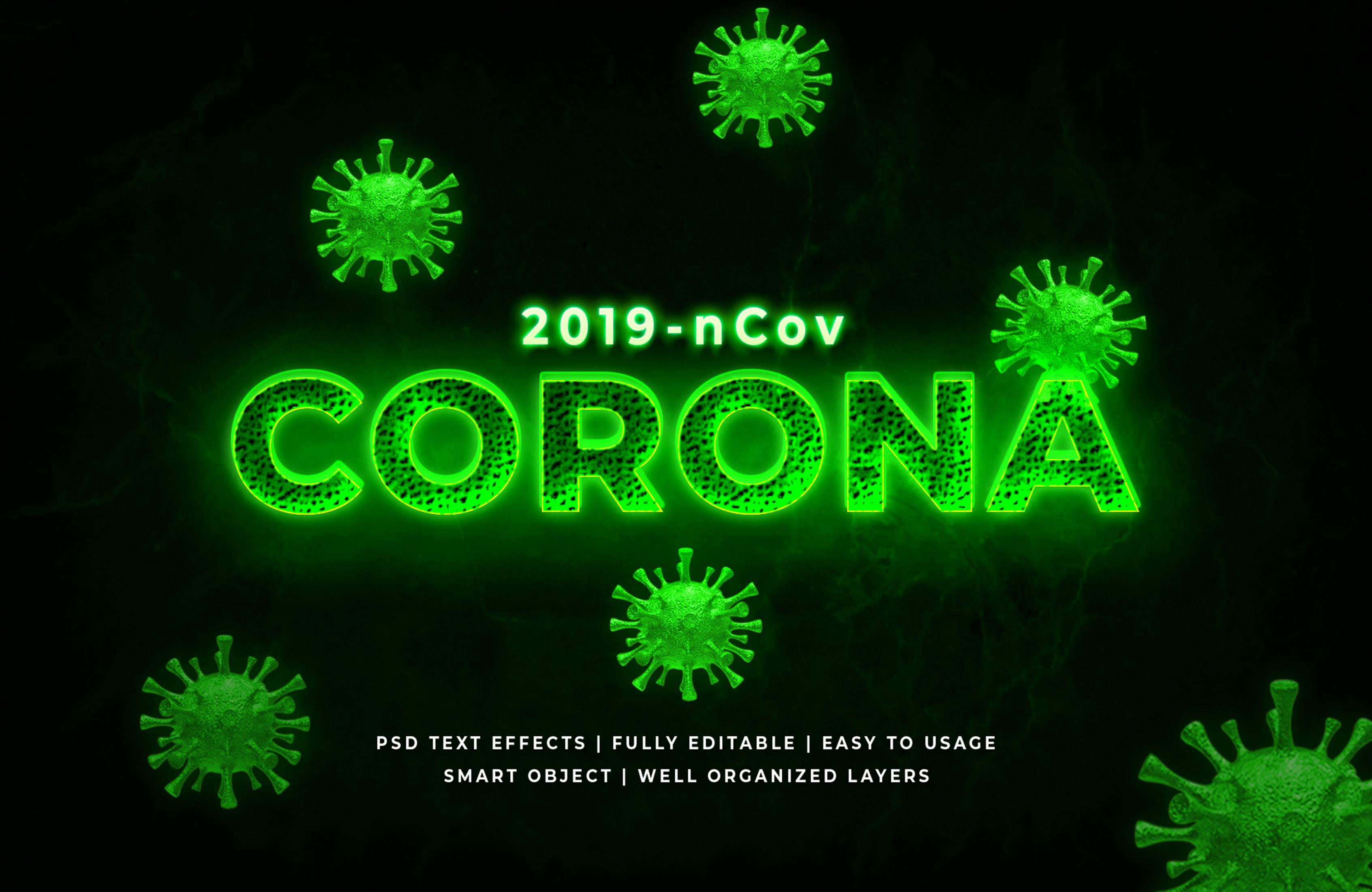 corona virus text style effect mockup by syifa5610