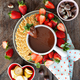 Chocolate fondue with strawberries - PhotoDune Item for Sale