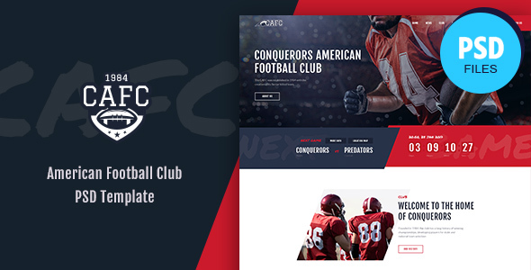 Conquerors   American Football & NFL PSD Template