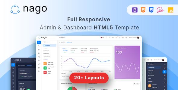Nago - Admin &  Dashboard HTML Template by laborasyon