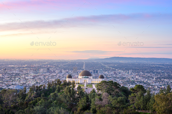 griffith observatory sunrise - Stock Photo - Images