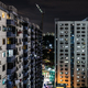 Singapore Urban Buildings At Night - PhotoDune Item for Sale