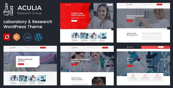 Aculia | Laboratory & Research WordPress Theme