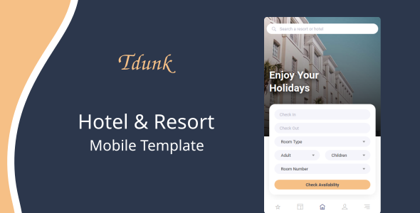 Tdunk - Hotel & Resort Mobile Template