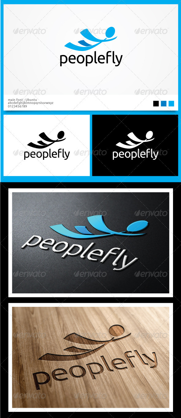 People Fly Logo Templates - Symbols Logo Templates