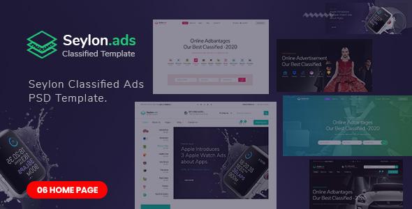Seylon - Classified Ads PSD Template.