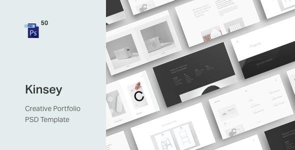Kinsey – Creative Portfolio PSD Template by ArtemSemkin