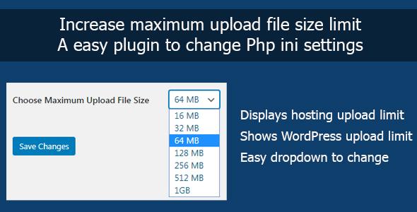 Increase Maximum Upload File Size in WordPress