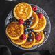 Sweet homemade pancakes with blueberries and raspberries - PhotoDune Item for Sale