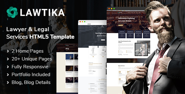 Lawtika | Attorney Lawyer HTML5 Template