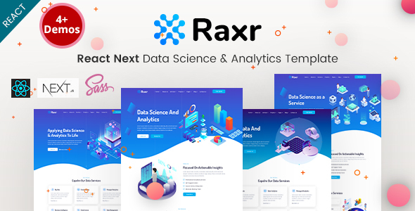 Raxr - React Next Data Science & Analytics Template