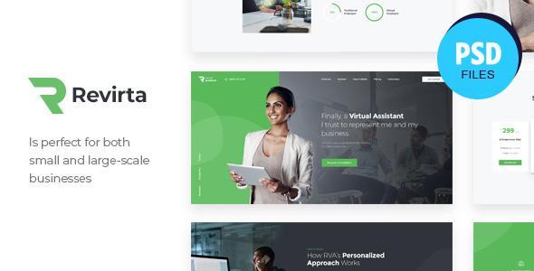 Revirta | Personal Virtual Assistant & Secretary PSD Template