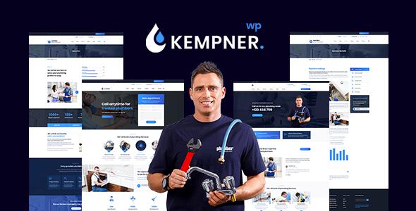 Kempner - Plumber WordPress Theme by wpthemebooster