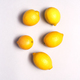 Overhead View Of  Fresh Lemons Against White Background - PhotoDune Item for Sale