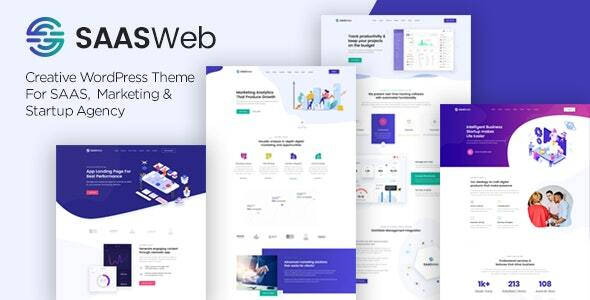 Excellent Saasweb - WordPress Theme For App & Saas Products
