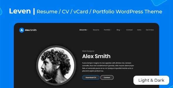 Leven   CV/Resume Theme