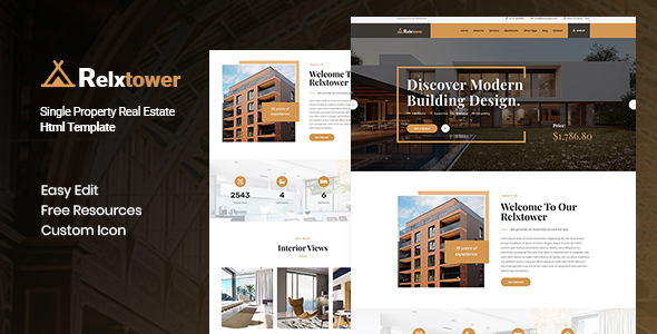 Relxtower - Single Property Real Estate  HTML Template