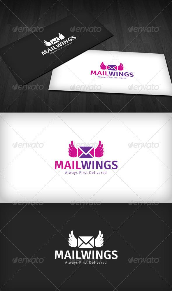 Mail Wings Logo - Symbols Logo Templates
