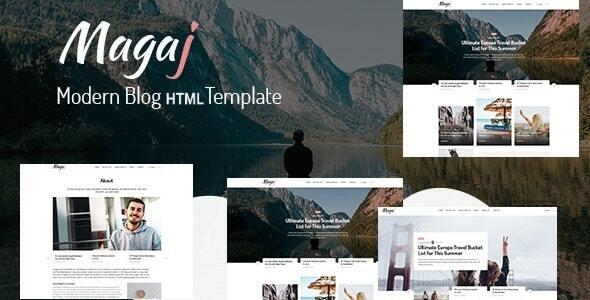 Magaj - Modern Blog HTML Template