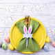 Easter table setting in green color - PhotoDune Item for Sale