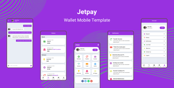 Jetpay - Wallet Mobile Template by aStylers