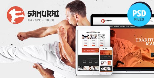 Samurai   Karate School and Fitness Center PSD Template