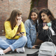 Three young women spending time together in the city - PhotoDune Item for Sale
