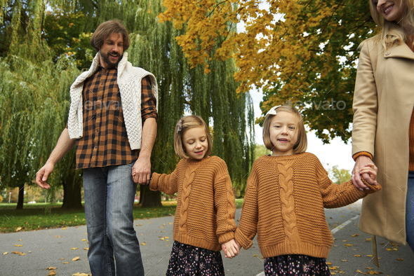 Autumn walk in the park - Stock Photo - Images