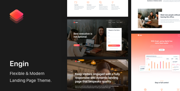 Engin - Multipurpose Landing Page WordPress Theme