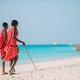 masai tribe member standing near the ocean in Zanzibar 11 February 2016 - PhotoDune Item for Sale