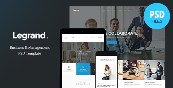 LeGrand - A Modern Multi-Purpose Business PSD Template