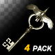 Magic Key - Gold Bird - Pack of 4 - VideoHive Item for Sale